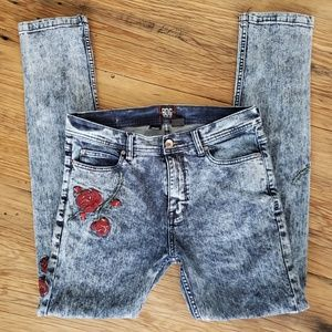 Urban Outfitters BDG Acid Wash Embroidered Jeans